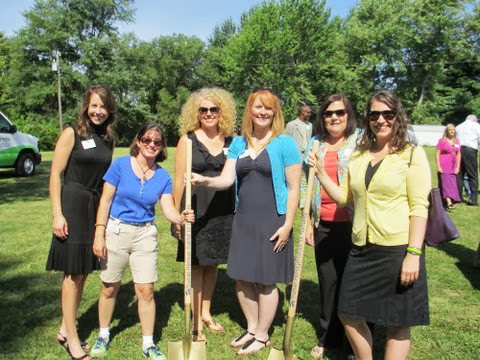 picture: eague members breaking ground on the new Truman Habitat for Humanity house for the Shumacher Family in Raytown