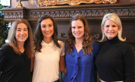 Membership to the Junior League of Kansas City, Missouri is a family affair. Left to right: Angie Fotopoulos, Kristi Barnthouse McNearney, Maggie Murphy Barnthouse and Carrie Fotopoulos Barnthouse.