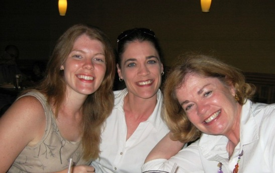 Junior League of Kansas City, Missouri members Julia Scammhorn, Joy Beth Scammahorn-Orr and Joyce Niebett Scammahorn.
