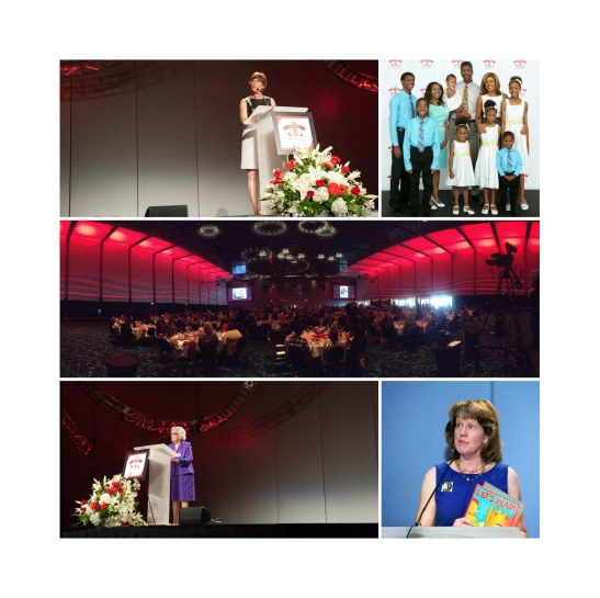 The Junior League of Kansas City, Missouri celebrated its 100th anniversary with a luncheon featuring guest speaker Hoda Kotb, representatives from community organizations as well as a local family impacted by the League's work in the Kansas City community.