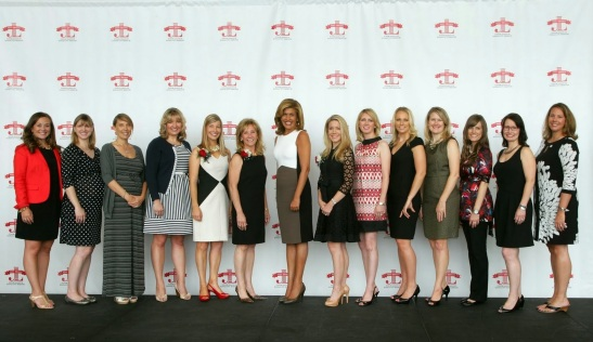 Hoda Kotb with the 2013-14 100th Anniversary Committee.